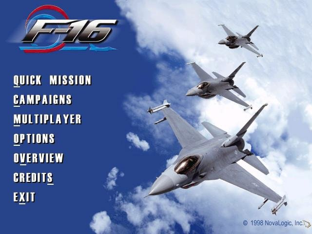 F-16 fighting falcon download, pc cd-rom (iso):: dj oldgames.
