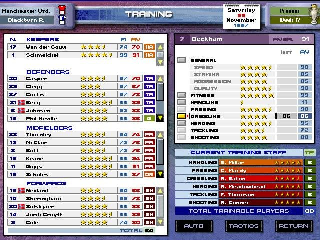 Ultimate Soccer Manager 98 Iso