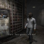 A prisoner begs for help.
